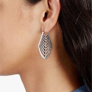Lucky Brand Silver Openwork Drop Earrings